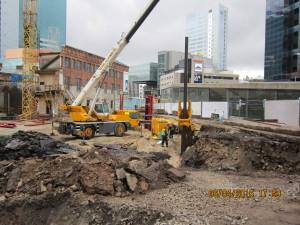 Maakri 19 büroohoone sulundseina ehitus 2016 II etapp
