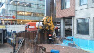 Riia 2 multifunktsionaalse hoone allasõidu ehitussüvendi toestus